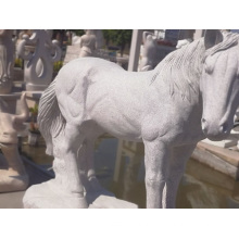 G617 granite stone horse carving